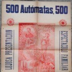 Carteles Espectáculos: CARTEL POSTER PUBLICIDAD HERMANOS ROCA 500 AUTOMATAS MAGIA CIRCO TEATRO BARCELONA MODERNISTA 1890 (5. Lote 124320479