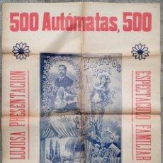 Carteles Espectáculos: CARTEL POSTER PUBLICIDAD MODERNISTA HERMANOS ROCA 500 AUTOMATAS MAGIA BARCELONA 1890 TEATRO (5. Lote 124321303