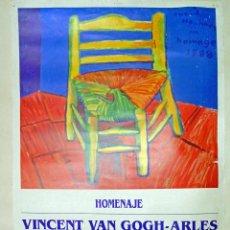 Carteles Espectáculos: CARTEL DE EXPOSICION - DAVID HOCKNEY - HOMENAJE A VAN GOGH - ARLES 1995.TAMAÑO 70X50 CMS. Lote 124466667