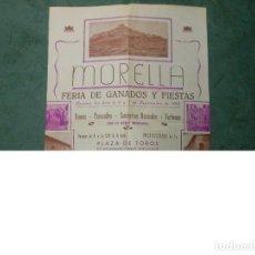 Carteles Espectáculos: 1953 CARTEL DE MORELLA FERIA DE GANADOS Y FIESTAS CASTELLON TOROS CARRUSEL CINE FUTBOL. Lote 124791839