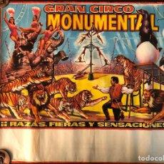 Carteles Espectáculos: CARTEL CIRCO MONUMENTAL. Lote 125823903