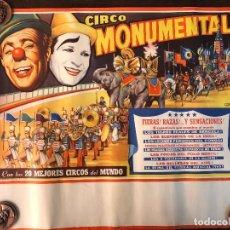 Carteles Espectáculos: CARTEL CIRCO MONUMENTAL . Lote 125824043