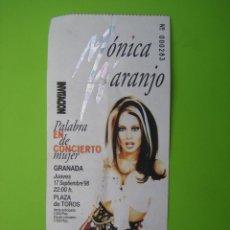 Carteles Espectáculos: ENTRADA DE CONCIERTO. MONICA NARANJO. CÓRDOBA 1998. Lote 125907263