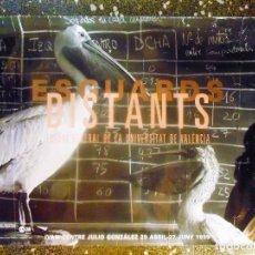 Carteles Espectáculos: CARTEL DE EXPOSICION -ESCUARDS DISTANTS - DE LA UNIVERSIDAD DE VALENCIA EN IVAM.1999.100X64CMS. Lote 125963483