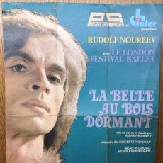 Carteles Espectáculos: CARTEL PROGRAMA DEL BAILARÍN RUDOLF NOUREEV - LONDON FESTIVAL BALLET - PARIS, 1976 (JULIO MARURI). Lote 194578950