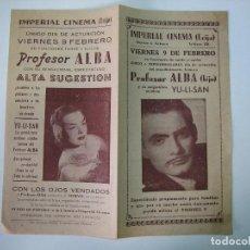 Affiches Spectacles: ANTIGUO PROGRAMA DE ESPECTÁCULO O TEATRO. PROFESOR ALBA. IMPERIAL CINEMA. ECIJA. Lote 126809883