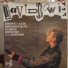 Carteles Espectáculos: POSTER - DAVID BOWIE - CARTEL CONCIERTO BARCELONA 1987 - GIRA GLASS SPIDER - VER DESCRIPCION. Lote 127115283