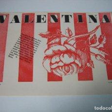 Carteles Espectáculos: CARTEL DE CINE. VALENTINA. M 30X21 CM. Lote 127121447