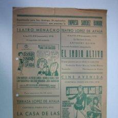 Carteles Espectáculos: 1. CARTEL PROGRAMA DE CINE. EMPRESA SANCHES RAMADE. CORDOBA. Lote 127585803