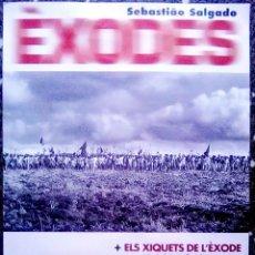 Carteles Espectáculos: CARTEL DE EXPOSICION FOTOGRAFICA - ÈXODES - SEBASTIAO SALGADO.2002 TAMAÑO 70X50 CM. Lote 128087799