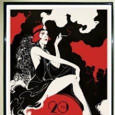 Carteles Espectáculos: POSTER VINTAGE - THE ROARING TWENTIES BY BORIS PELCER, - ART DECO.TAMAÑO 50X 46,5 CMS. Lote 128335499