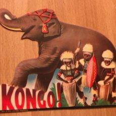Carteles Espectáculos: PROGRAMA TROQUELADO CIRCO AMERICANO KONGO. Lote 128590336