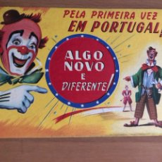 Affissi Spettacoli: PROGRAMA TROQUELADO CARTÓN CIRCO PARIS EN PORTUGAL. Lote 128635215