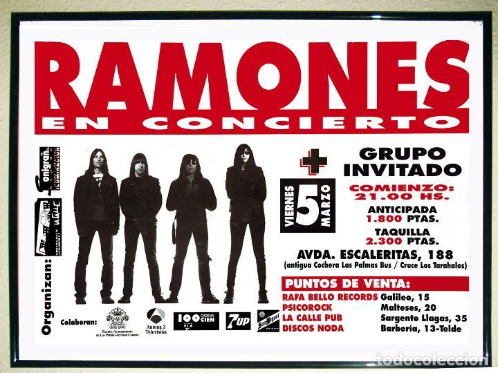 CARTEL GRANDE DE CONCIERTO DE - RAMONES - EN LAS PALMAS 1993 TAMAÑO 64 X 45 (Coleccionismo - Carteles Gran Formato - Carteles Circo, Magia y Espectáculos)