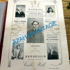 Affiches Spectacles: CHICLANA DE LA FRONTERA, 1917, CARTEL COMPAÑIA TEATRAL, 21X29 CMS. Lote 129588643