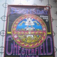 Carteles Espectáculos: CHESTERFIELD KINGS ******* CARTEL ORIGINAL EUROPEAN TOUR 1987 **** 84 X 59 CMS. Lote 130872096