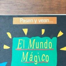 Carteles Espectáculos: PASEN Y VEAN - CARTELES DE PELÍCULAS DE MAGIA EN PAPEL ESTUCADO. EL MUNDO MAGICO DE TAMARIZ 11 CART. Lote 130988956