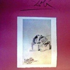 Carteles Espectáculos: DALÍ .VERDADERO - GRABADO FALSO. CARTEL ORIGINAL DE LA EXPOSICIÓN. IVAM, VALENCIA 1993.. Lote 132691230