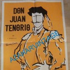 Carteles Espectáculos: SEVILLA, 1987, MAGNIFICO CARTEL DE LA OBRA DE TEATRO DON JUAN TENORIO, 48X68 CMS. Lote 132975234