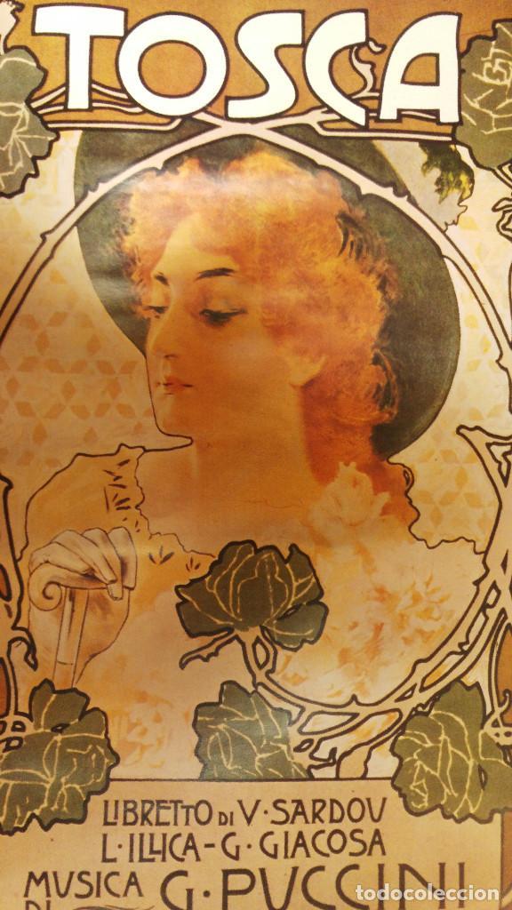 CARTEL MODERNISTA OPERA TOSCA PUCCINI. AÑOS 80 EDICION BEATRICE D' ESTE MILANO (Coleccionismo - Carteles Gran Formato - Carteles Circo, Magia y Espectáculos)