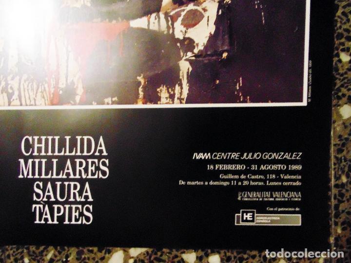 Carteles Espectáculos: CARTEL DE EXPOSICION DE - CHILLIDA .MILLARES.SAURA.Y TAPIES-EL IMPRESIONISMOS ESPAÑOL-EN IVAM 1989 - Foto 2 - 134414722