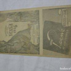 Carteles Espectáculos: FOLLETO PUBLICITARIO DEL TEATRO FONTALBA, EMPRESA M. HERRERA ORIA. Lote 135199558