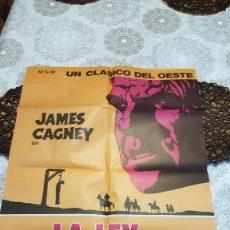 Carteles Espectáculos: CARTEL GRANDE DE CINE PELICULA LA LEY DE LA HORCA 67X95. Lote 135764990