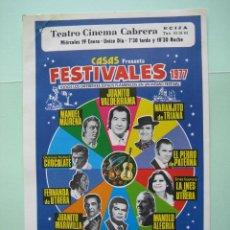 Carteles Espectáculos: ANTIGUO CARTELITO DE CANTE FLAMENCO. Lote 135946394