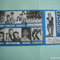 Carteles Espectáculos: CARTEL DE ESPECTÁCULO Y VARIEDADES. ANTONIO MACHIN 1967. TEATRO CABRERA. ECIJA. M 33X16. Lote 136108318
