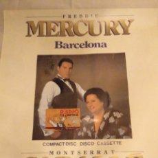 Carteles Espectáculos: CARTEL PROMO OFICIAL BARCELONA. FREDDY MERCURY & MONTSERRAT CABALLÉ 1991. LEER DESCRIPCIÓN. Lote 137158074