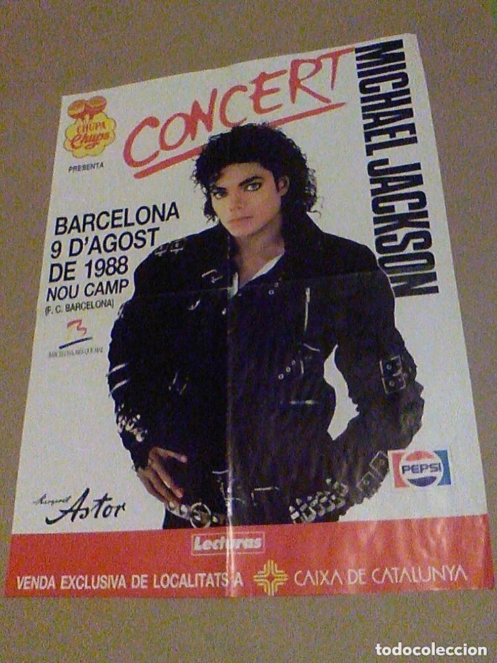 CONCIERTO MICHAEL JACKSON BARCELONA 9 DE AGOSTO DE 1988 NOU CAMP F. C. BARCELONA CARTEL 58 X 42,5 CM (Coleccionismo - Carteles Gran Formato - Carteles Circo, Magia y Espectáculos)