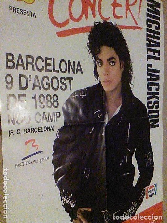 Carteles Espectáculos: Concierto Michael Jackson Barcelona 9 de Agosto de 1988 Nou Camp F. C. BARCELONA cartel 58 x 42,5 cm - Foto 2 - 137278090