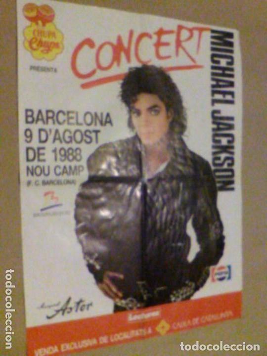 Carteles Espectáculos: Concierto Michael Jackson Barcelona 9 de Agosto de 1988 Nou Camp F. C. BARCELONA cartel 58 x 42,5 cm - Foto 3 - 137278090