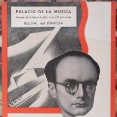 Carteles Espectáculos: CARTEL RECITAL DEL PIANISTA ARMANDO SALAS PALACIO DE LA MUSICA BARCELONA 1943. Lote 137282678