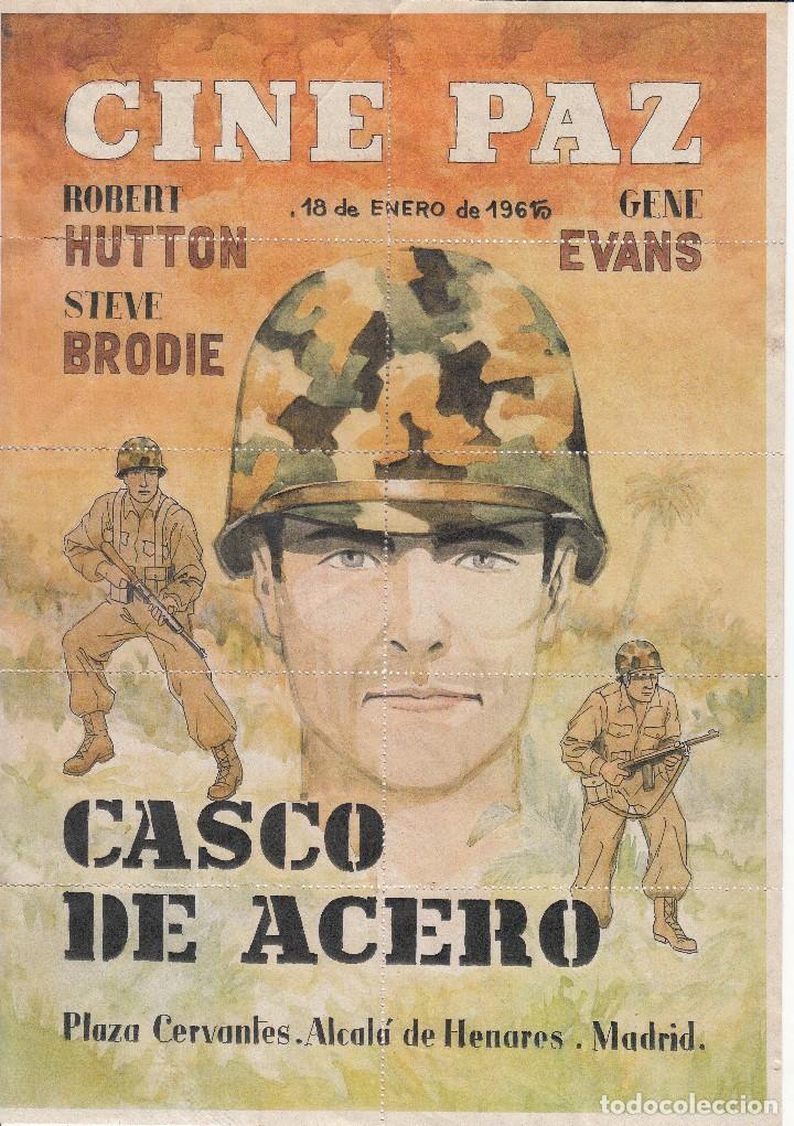 CINE PAZ: ALCALA DE HENARES 1965: CASCO DE ACERO / REVERSO DIEZ ENTRADA (Coleccionismo - Carteles Gran Formato - Carteles Circo, Magia y Espectáculos)