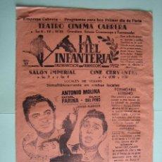 Carteles Espectáculos: ANTIGUO PROGRAMA DE ESPECTÁCULOS. FLAMENCO. COPLA. ANTONIO MOLINA Y RAFAEL FARINA. Lote 138607602