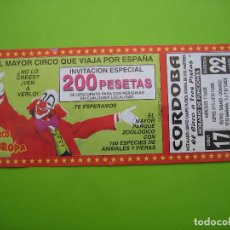 Carteles Espectáculos: ANTIGUO PROGRAMA DE CIRCO. . Lote 138941250