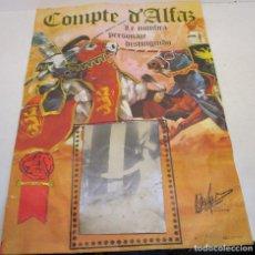 Carteles Espectáculos: CARTEL COMPTE D'ALFAZ, CONDE DE ALFAZ, TORNEO MEDIEVAL, AÑOS 60. Lote 138970902
