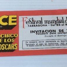 Carteles Espectáculos: CIRCO PRICE. FESTIVAL MUNDIAL EL CIRCO. ENTRADA. Lote 138974034