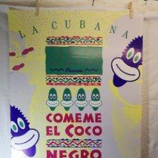Carteles Espectáculos: CARTEL TEATRO ESPECTACULO COMEME EL COCO NEGRO--COMPAÑIA LA CUBANA SITGES-BARCELONA 1989---. Lote 156467662