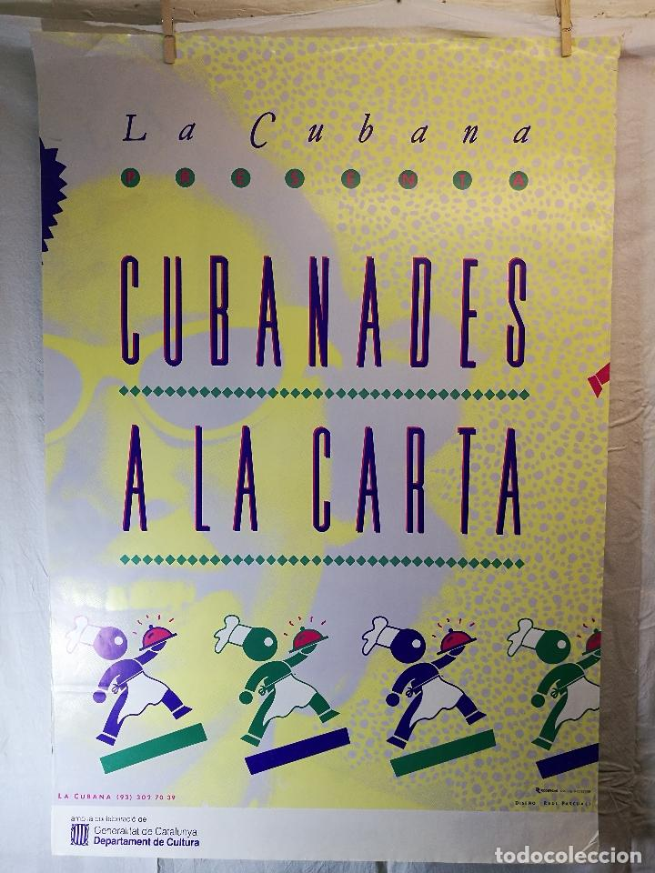 Carteles Espectáculos: Cartel teatro espectaculo cubanades a la carta--compañia la cubana sitges-barcelona 1989--- - Foto 2 - 139459778