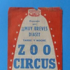 Carteles Espectáculos: ANTIGUO CARTEL CIRCO - ZOO CIRCUS, CIRCO ECUESTRE Y FIERAS - AÑO 1961. Lote 141194686