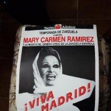 Carteles Espectáculos: MARI CARMEN RAMIREZ CARTEL 30 X 42 CTMS. DEL TEATRO ALBENIZ. AÑO 1989. Lote 141596930