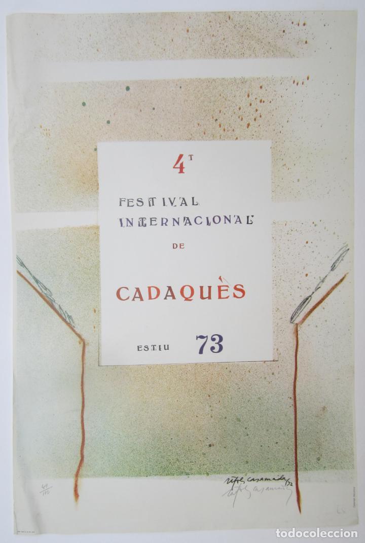 CARTEL 4T FESTIVAL INTERNACIONAL DE CADAQUÉS, 1973, FIRMADO POR ALBERT RÀFOLS CASAMADA. 68X46CM (Coleccionismo - Carteles Gran Formato - Carteles Circo, Magia y Espectáculos)