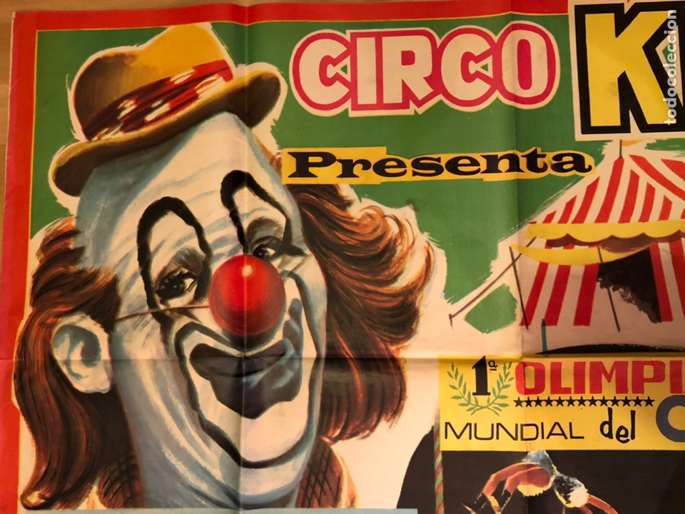 Carteles Espectáculos: Cartel o poster original espectáculo circo kron.arturo segura 105x74 cm - Foto 2 - 146370660