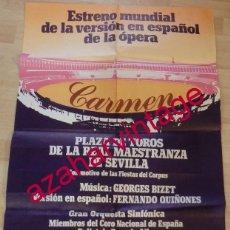 Affissi Spettacoli: SEVILLA, 1981, CARTEL DE LA OPERA CARMEN, 63X94 CMS. Lote 147166114