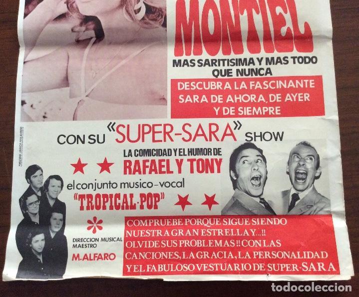 Carteles Espectáculos: CARTEL SARA MONTIEL. SUPER-SARA SHOW. 1980. TEATRO PRINCIPAL. ALICANTE. 35 x 50 CMS. - Foto 4 - 147526678