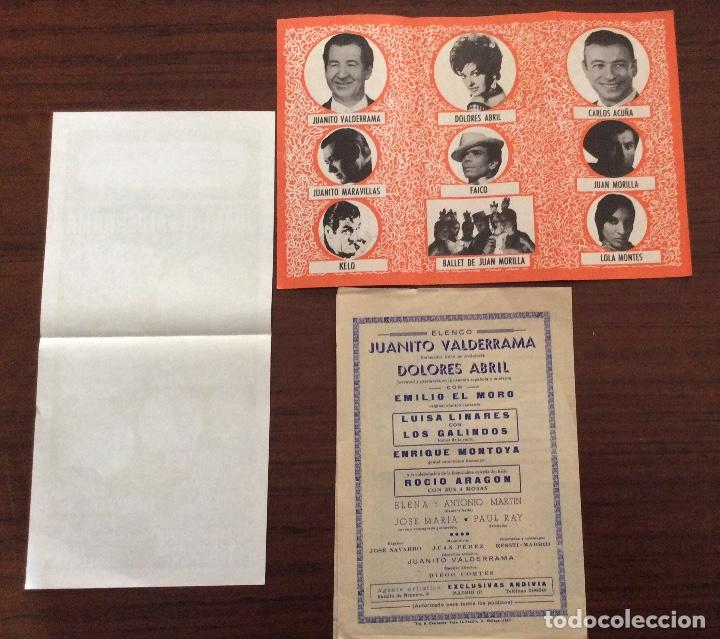Carteles Espectáculos: GRUPO 3 CARTEL JUANITO VALDERRAMA, DOLORES ABRIL. 1960,1967,1971. TEATRO CERVANTES. MÁLAGA. - Foto 2 - 147530198