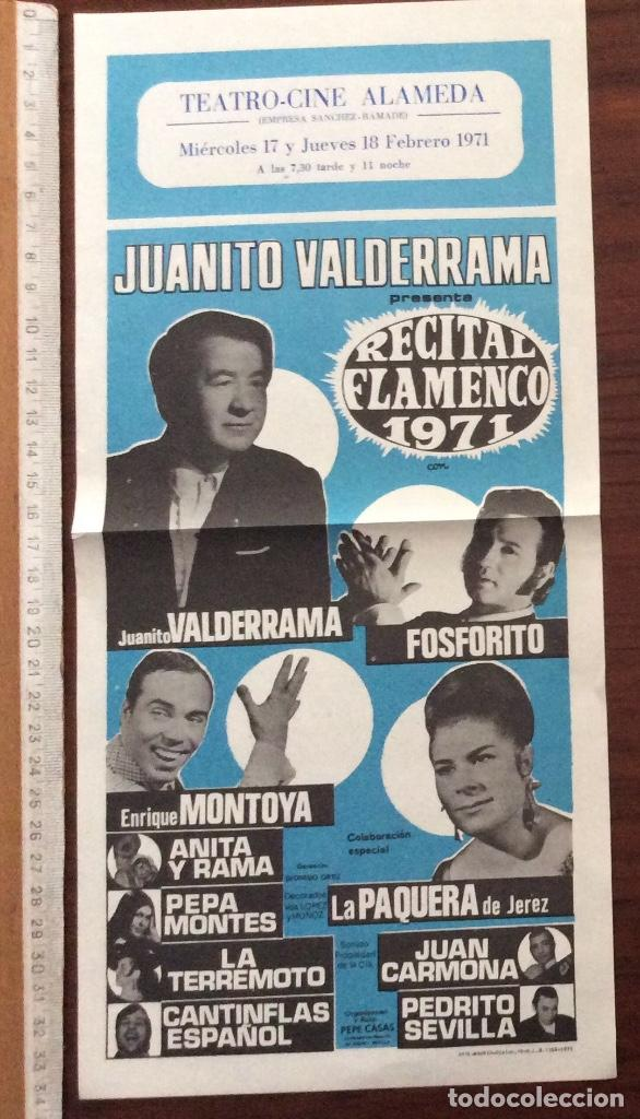 Carteles Espectáculos: GRUPO 3 CARTEL JUANITO VALDERRAMA, DOLORES ABRIL. 1960,1967,1971. TEATRO CERVANTES. MÁLAGA. - Foto 3 - 147530198