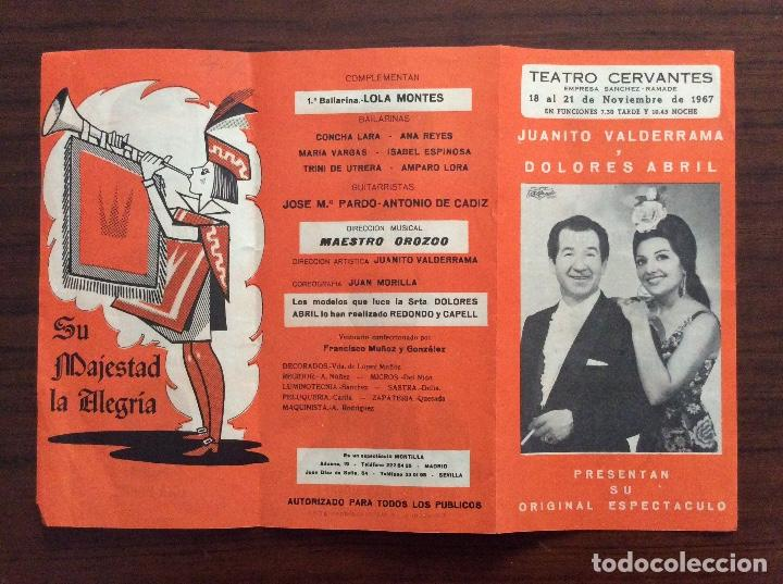 Carteles Espectáculos: GRUPO 3 CARTEL JUANITO VALDERRAMA, DOLORES ABRIL. 1960,1967,1971. TEATRO CERVANTES. MÁLAGA. - Foto 4 - 147530198